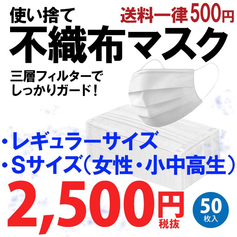 使い捨てマスク 大人用 50枚入 普通 小